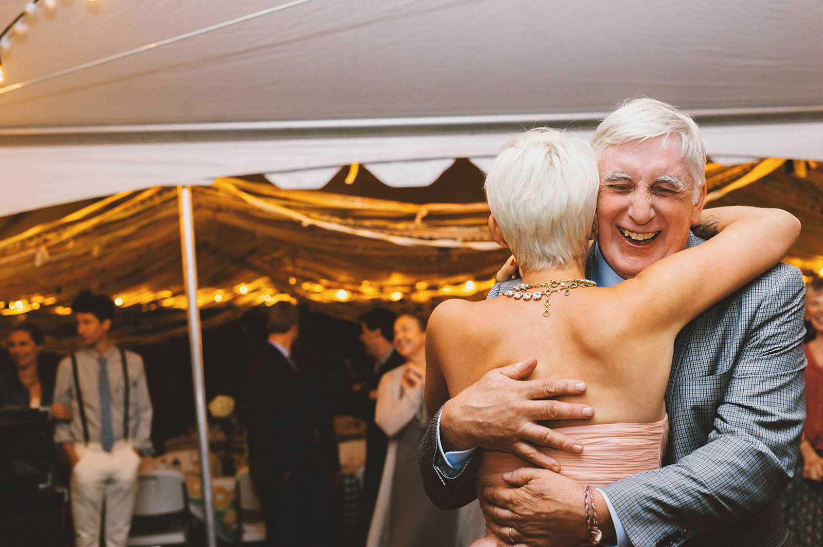 Orcas Island wedding - Bride and Father's first dance