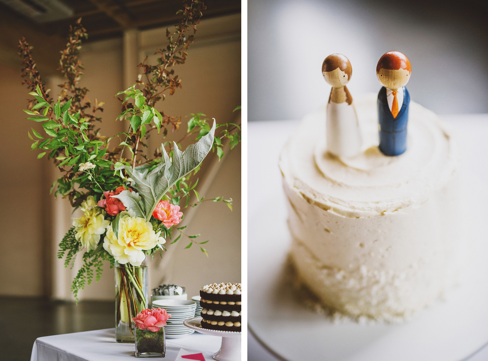 Wedding cake toppers | Castaway Portland Wedding