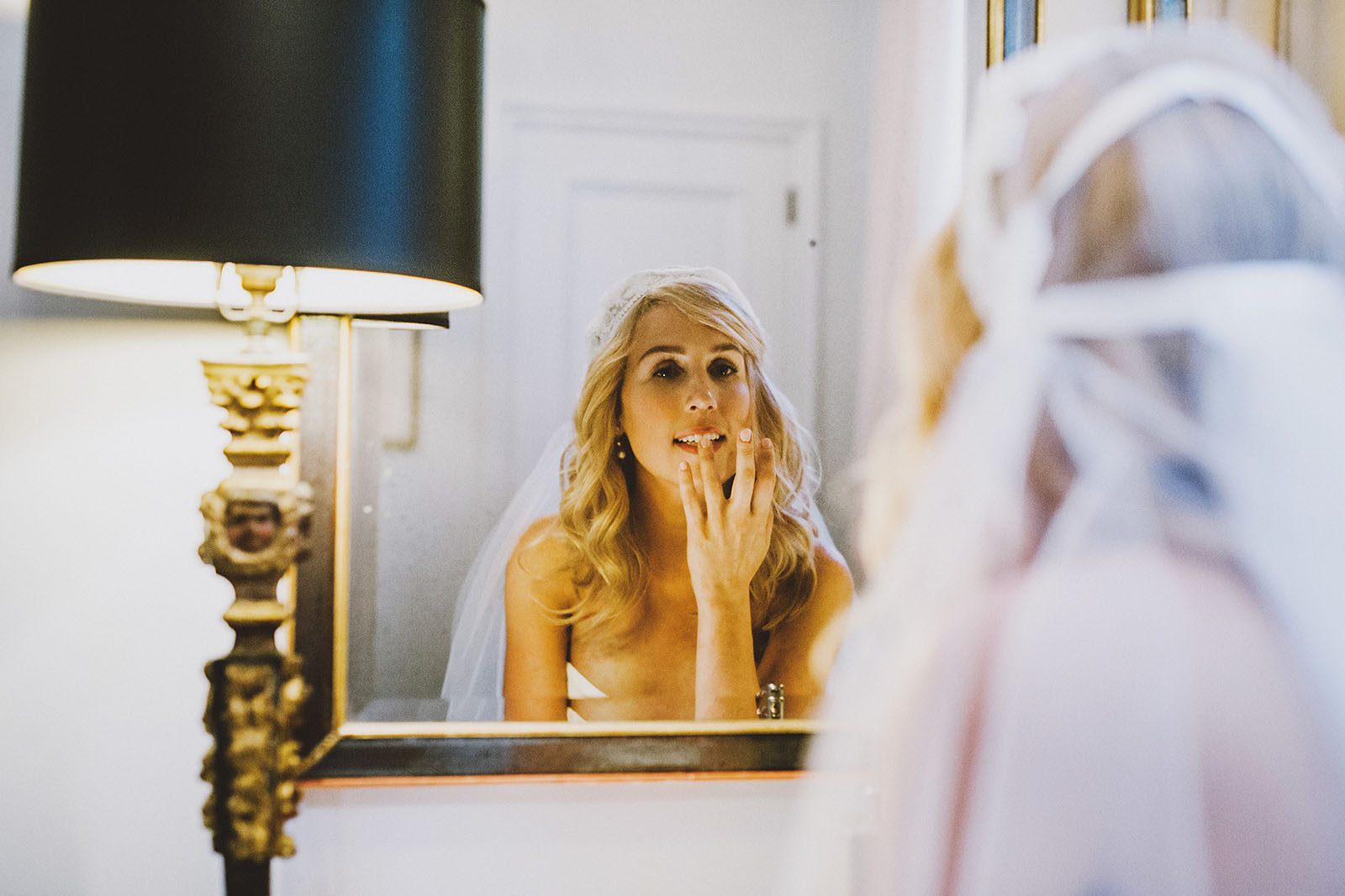 Portrait of bride and groom   Portland Town Club Wedding