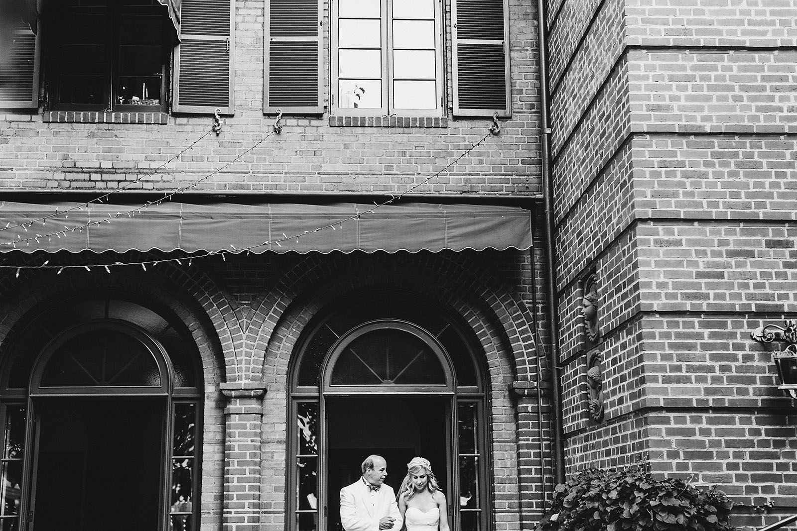 Bride and her father walking down the aisle | Portland Town Club Wedding