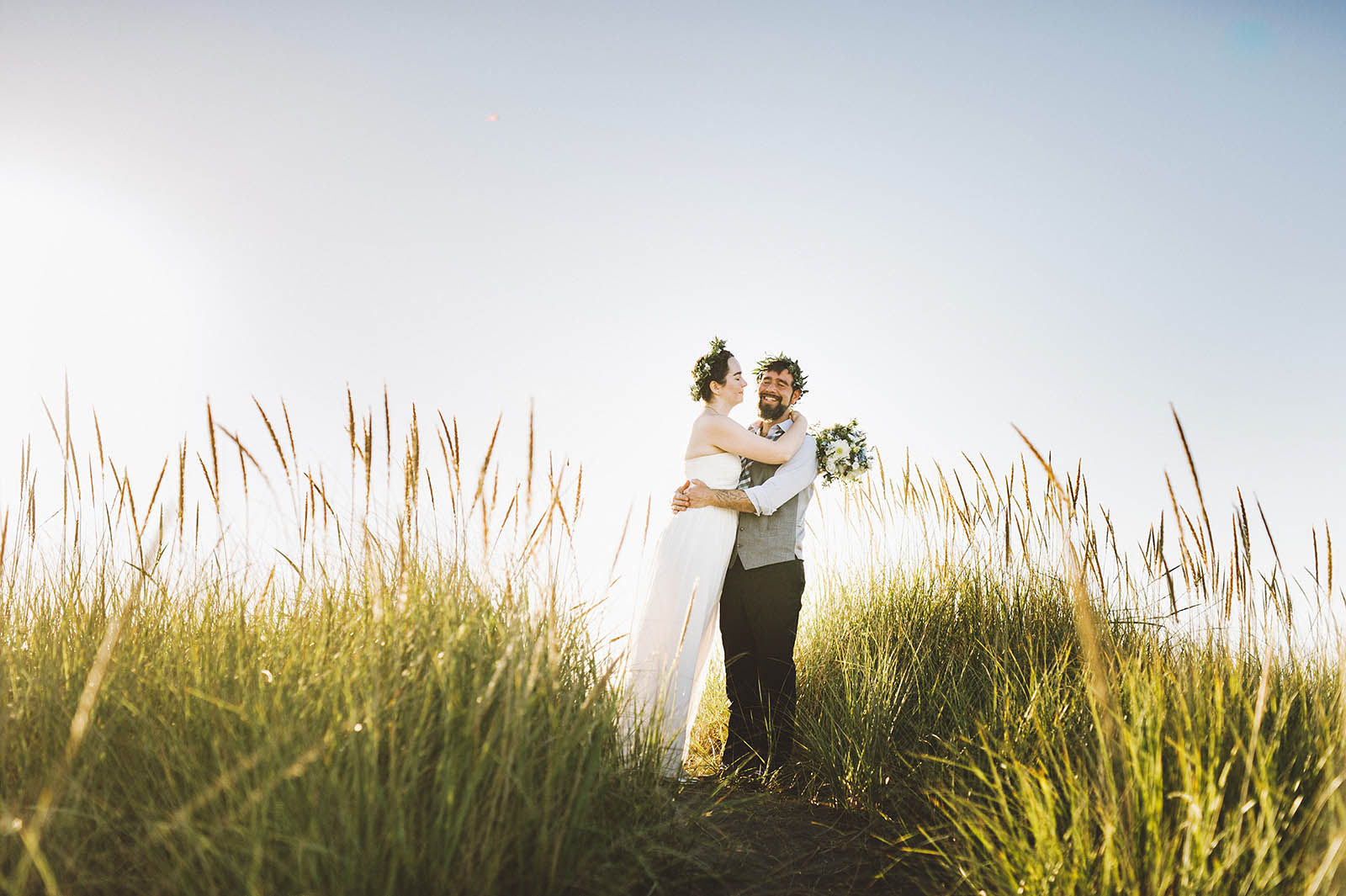Portraits on the beach | SouWester Lodge Wedding