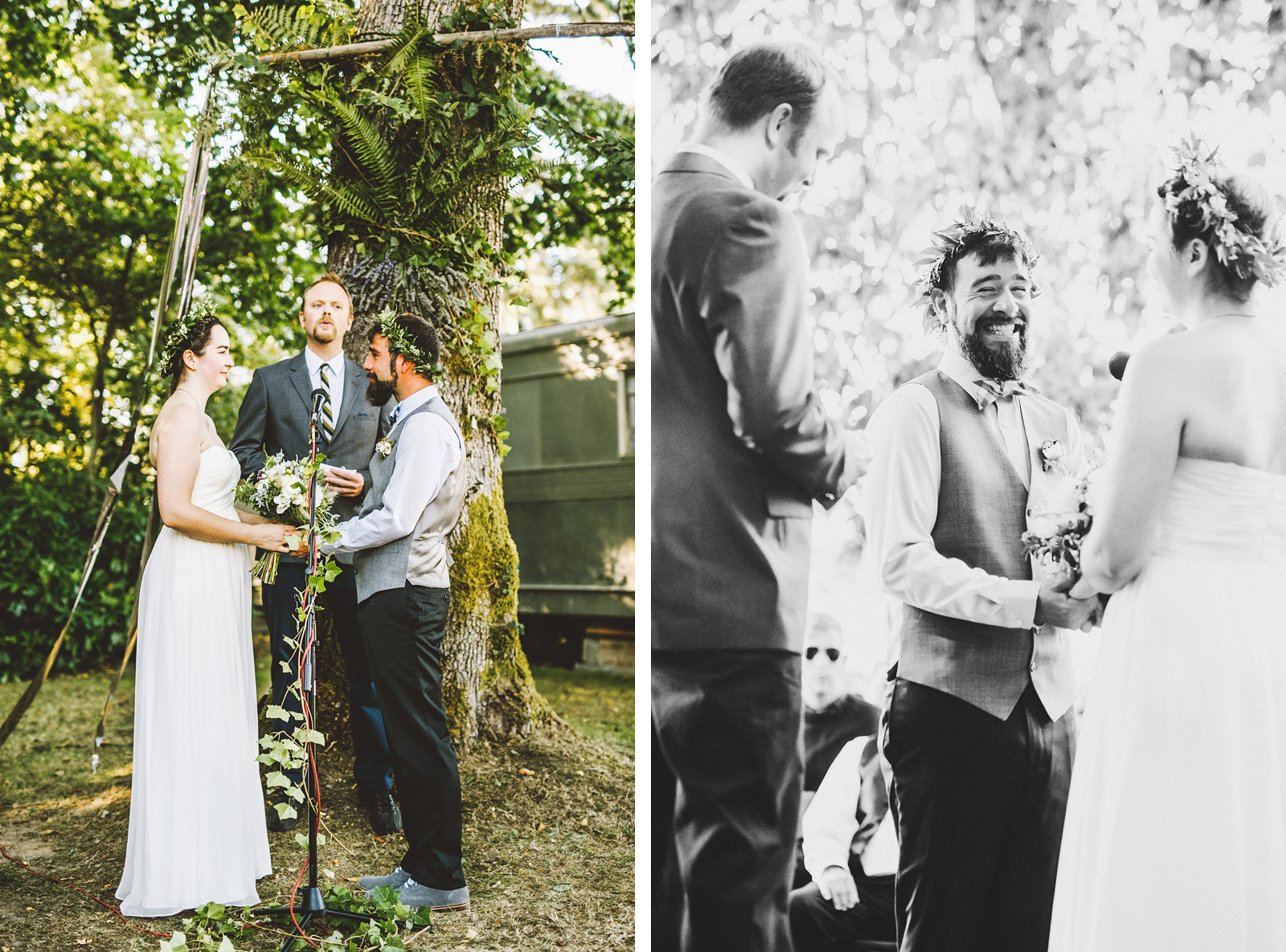 Ceremony under a tree | SouWester Lodge Wedding