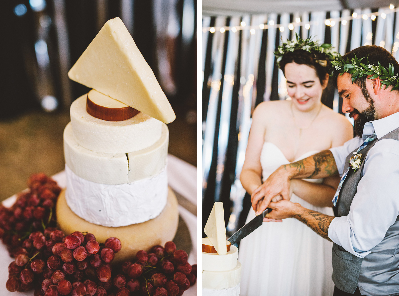 Wedding cheese cake tower | SouWester Lodge Wedding