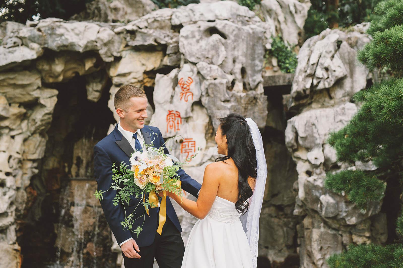 Diane Rick S Lan Su Chinese Garden Wedding In Portland Or