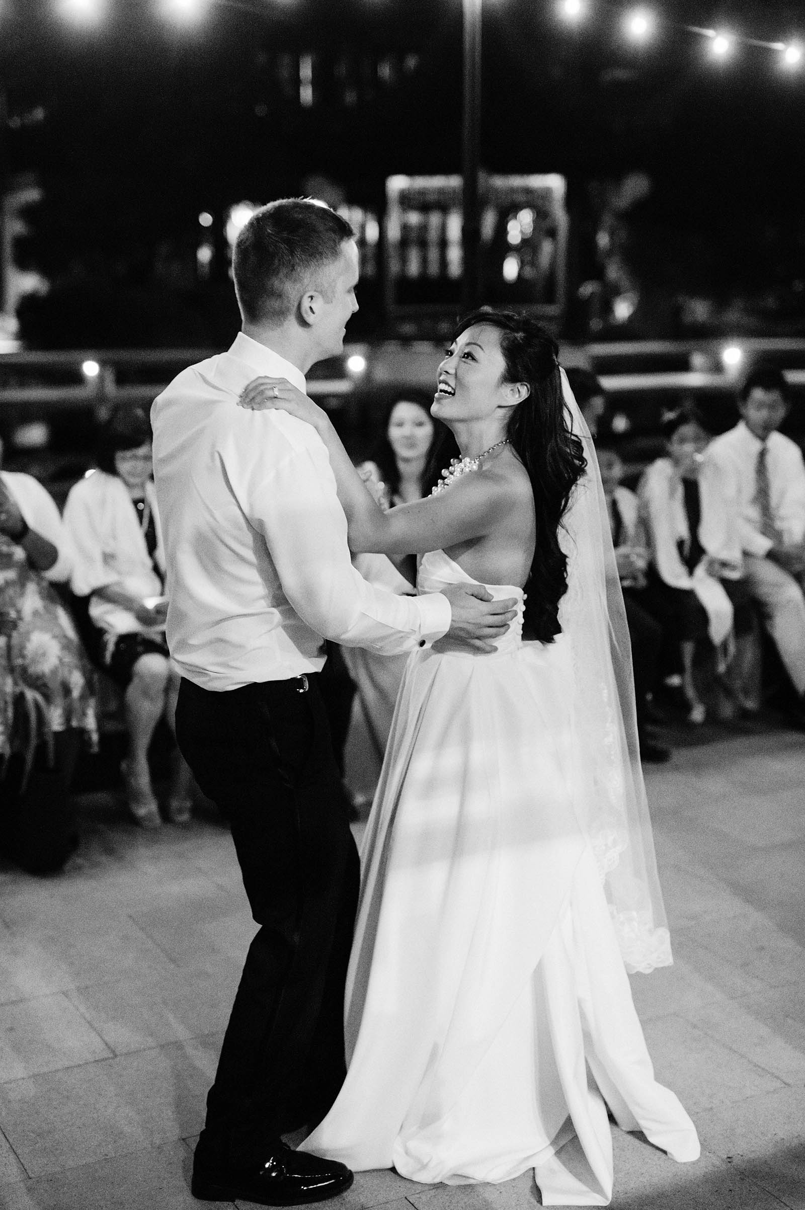 First Dance on the patio | Lan Su Chinese Garden Wedding