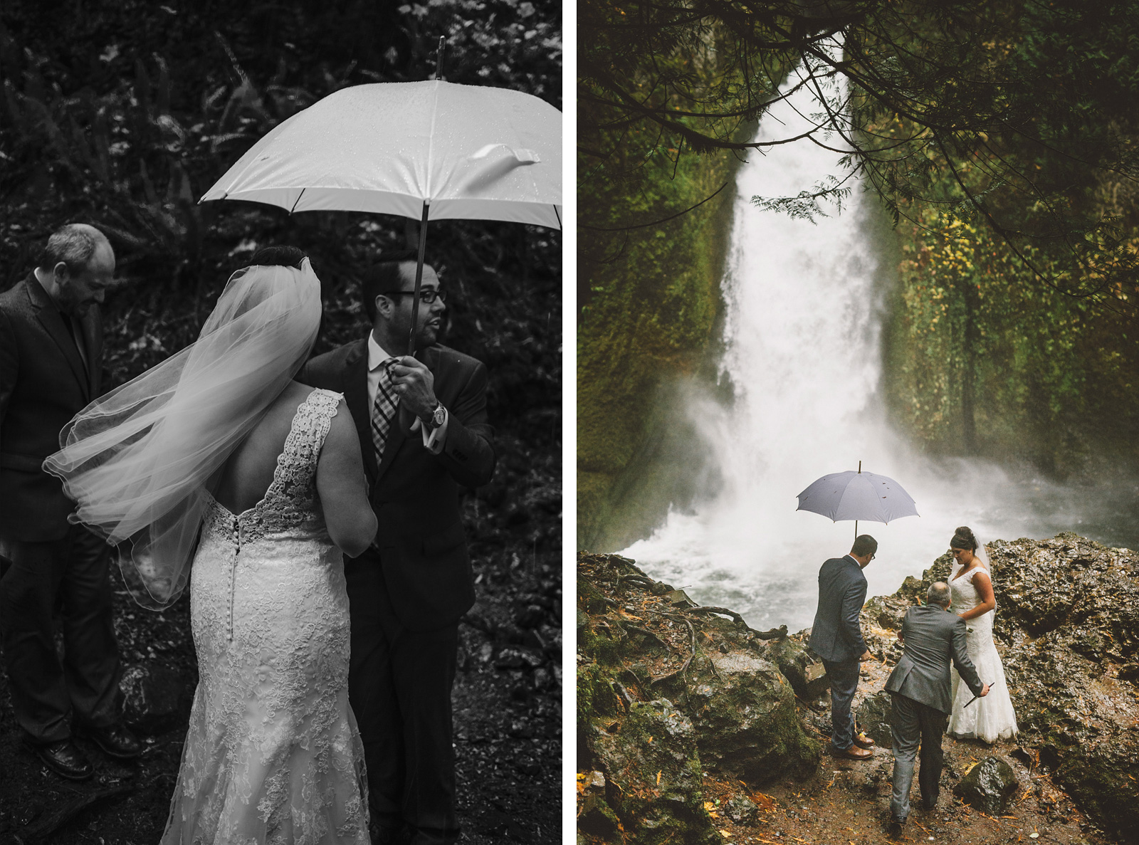 Wedding ceremony in the Columbia Gorge | Wahclella Falls Elopement