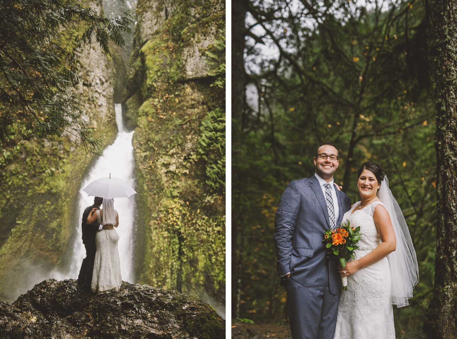 Portraits on the hiking trail | Wahclella Falls Elopement