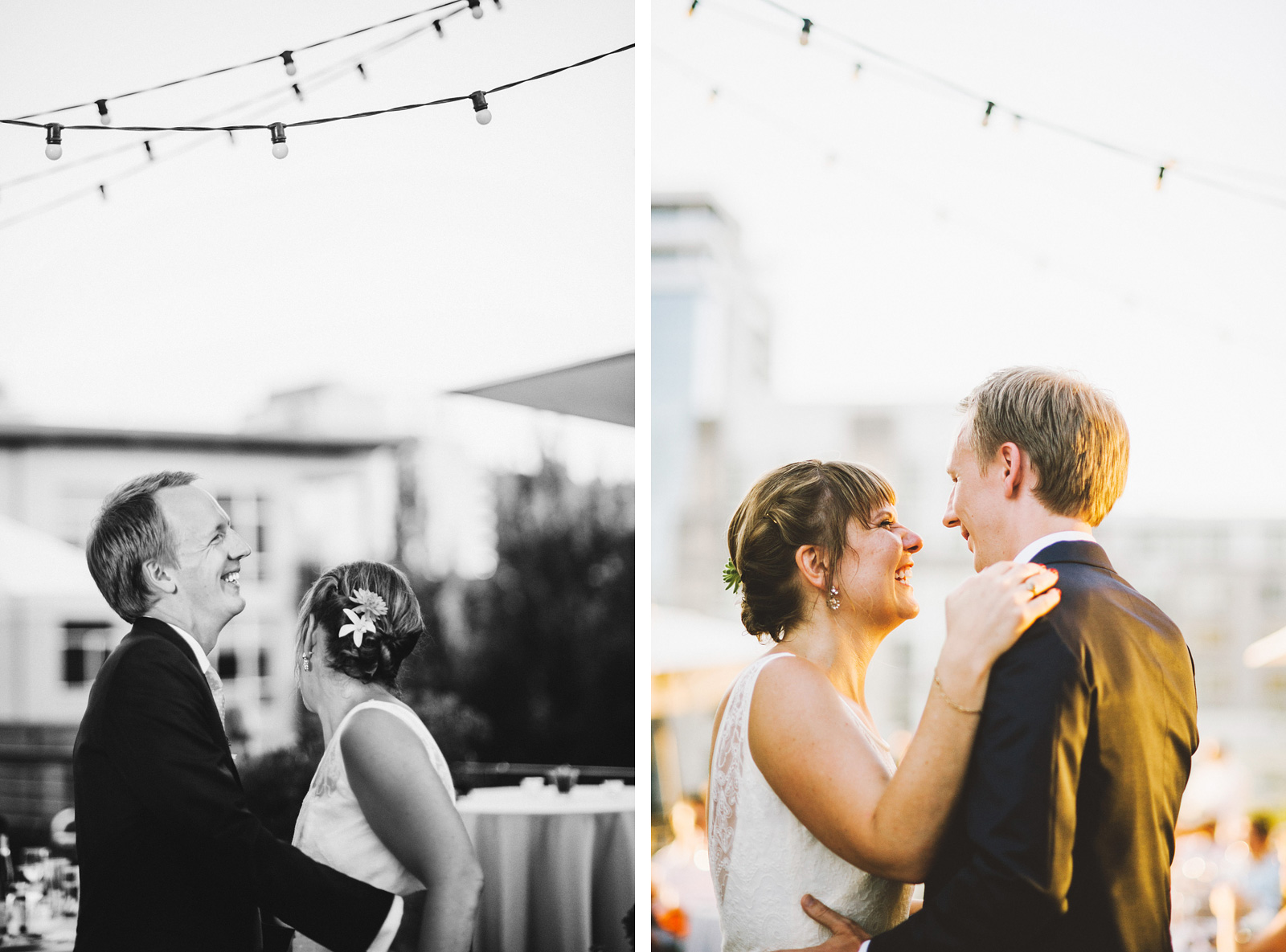 Bride and Groom's first dance | Ecotrust Rooftop Wedding in Downtown PDX
