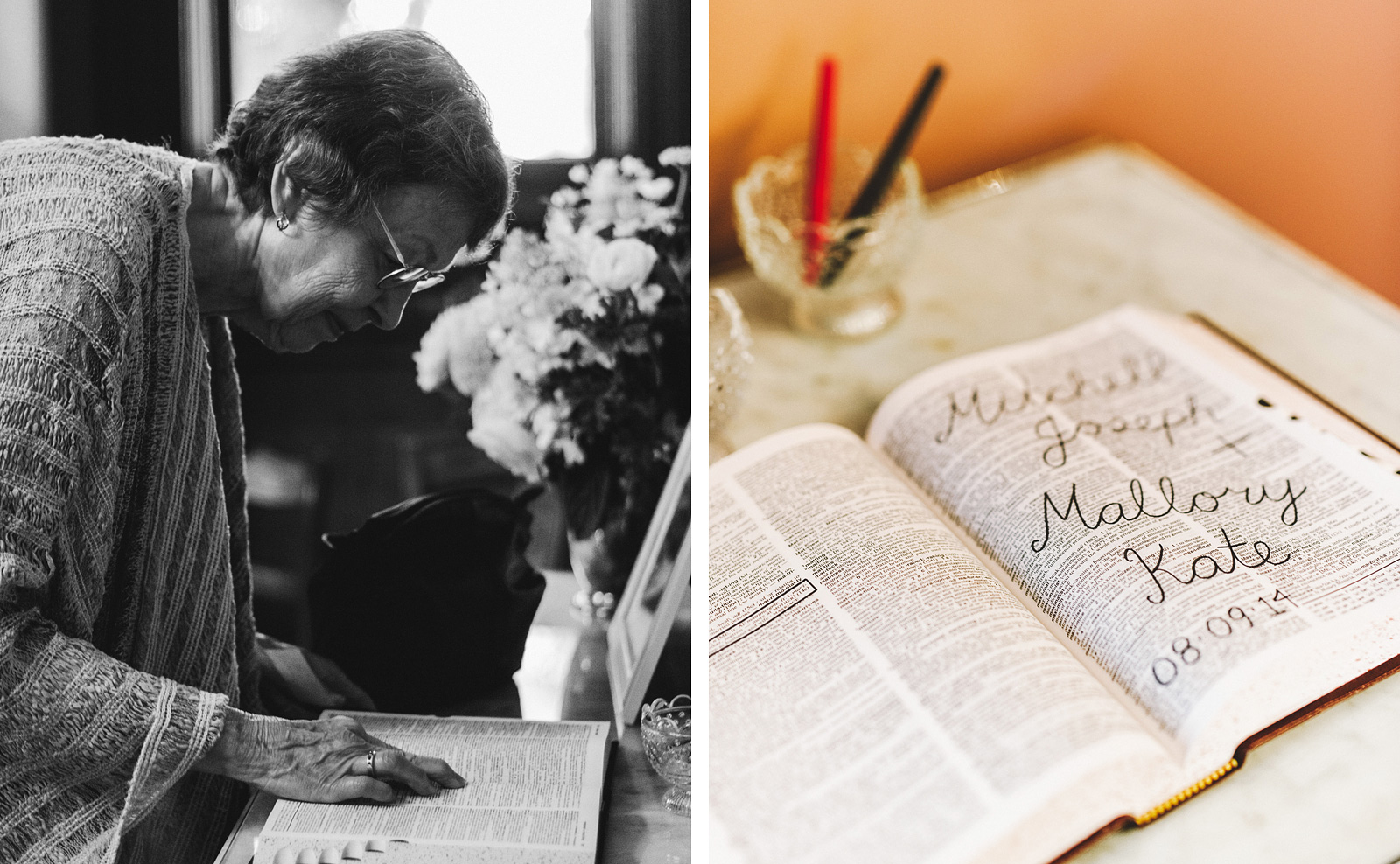 Guest signing the Dictionary guestbook | Fort Vancouver Wedding in Washington