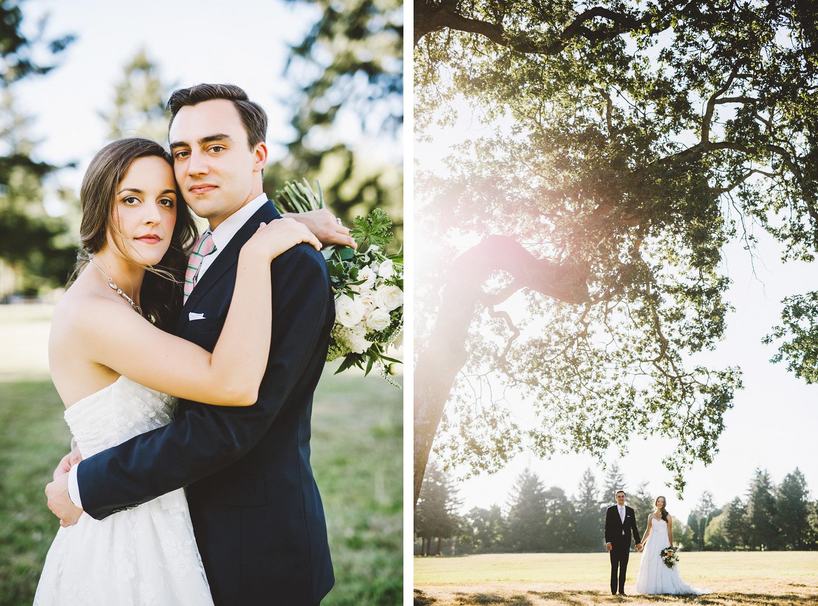 Portraits around the Marshall House | Fort Vancouver Wedding in Washington
