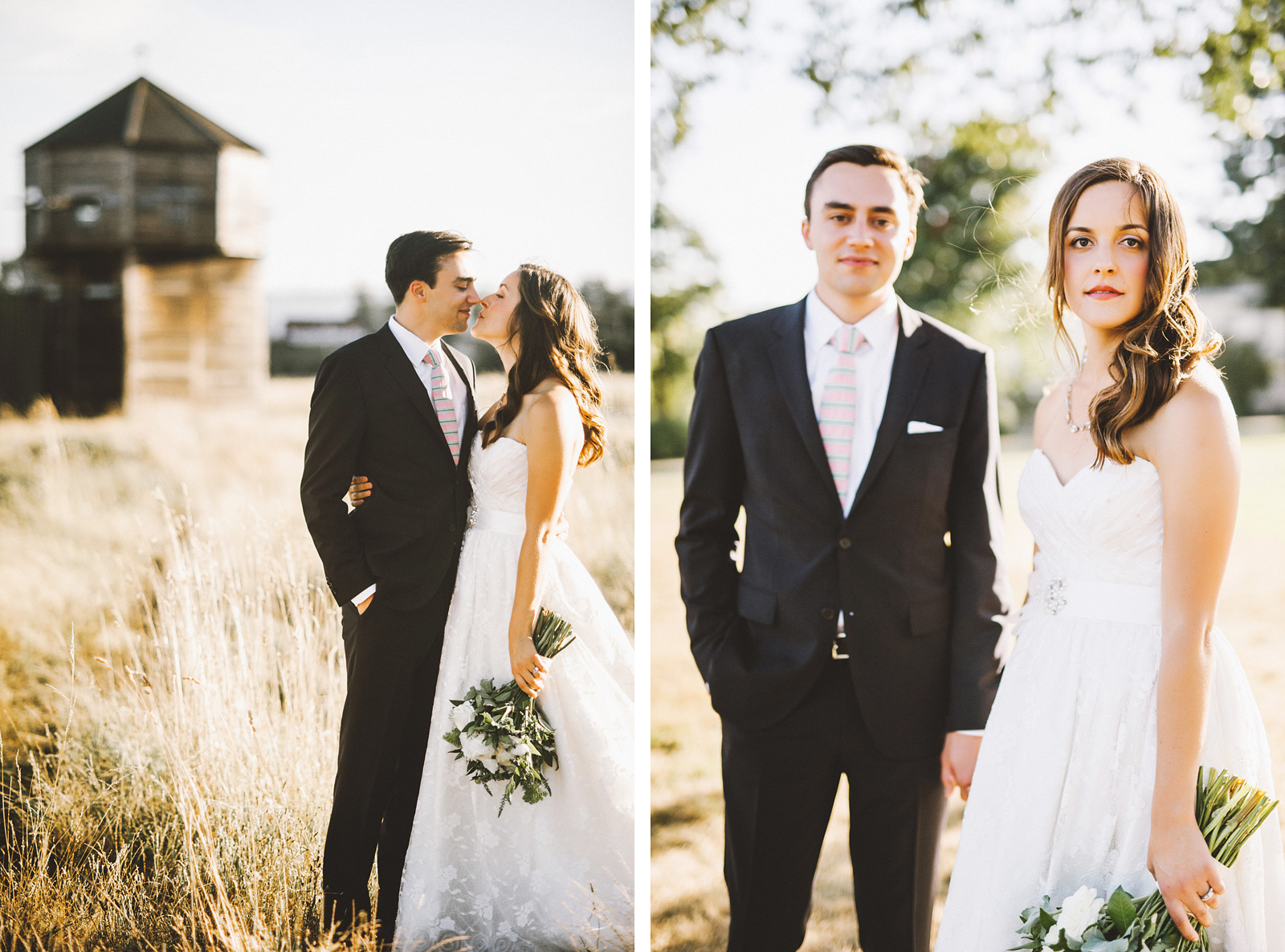 Portraits near the Marshall House | Fort Vancouver Wedding in Washington