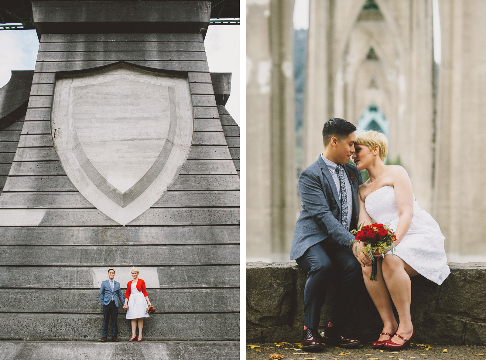 Portraits in Cathedral Park | Portland Oregon Elopement