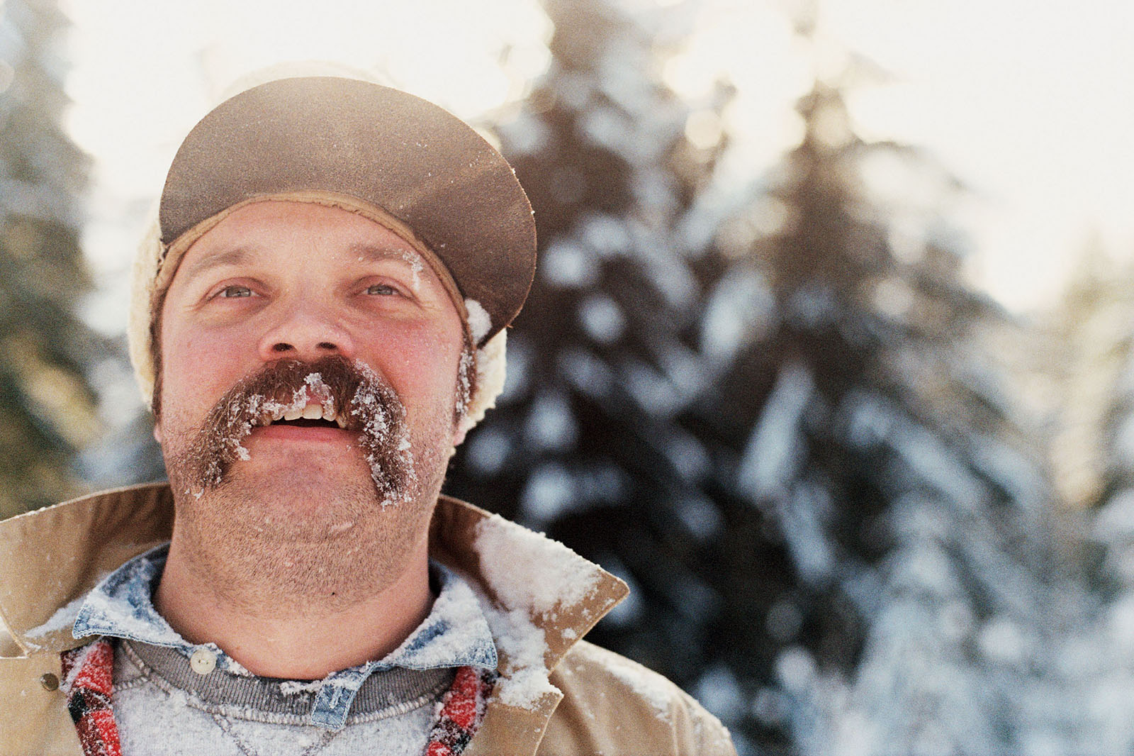 Miles after getting hit with snow in Trout Lake, WA | Contax Aria