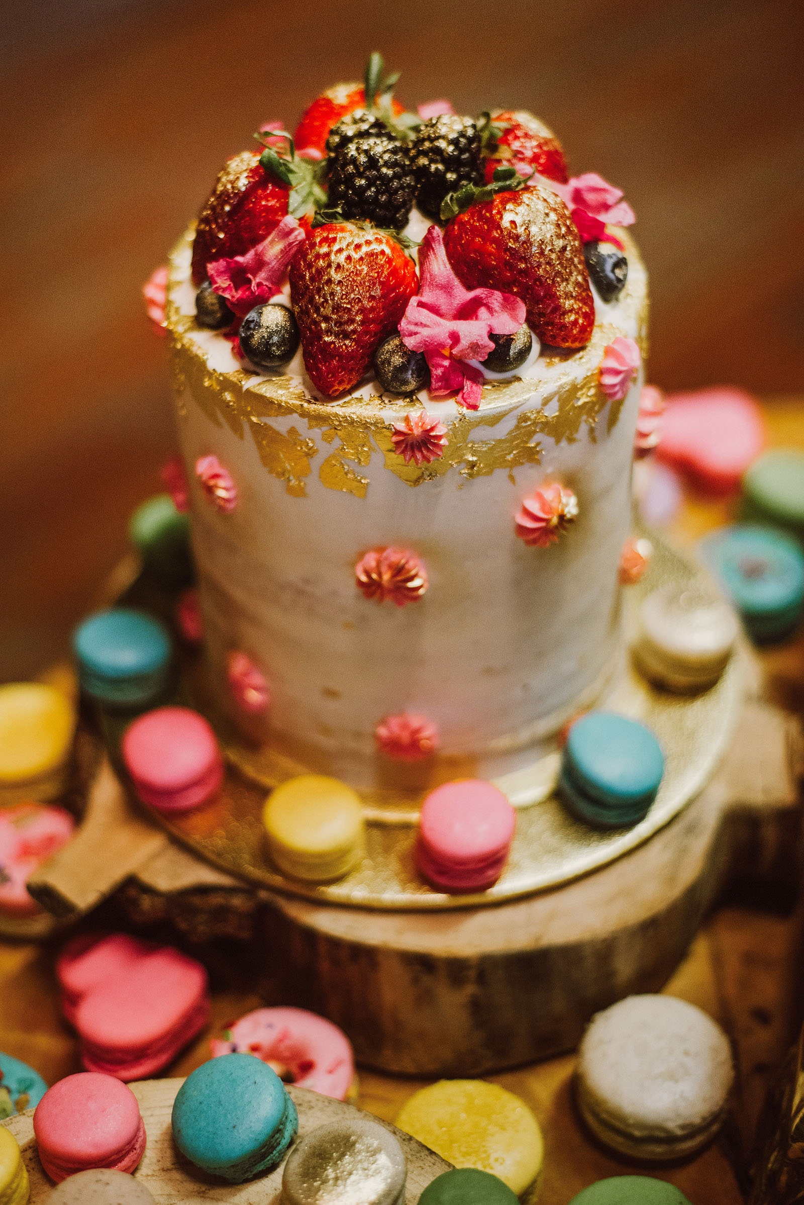 Whimsical wedding cake by Tier PDX | Olympic National Park Wedding
