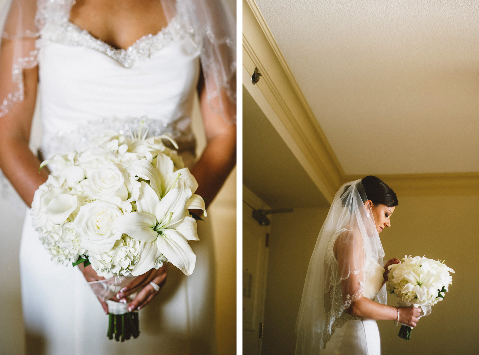 Bridal portraits in her hotel suite | Sacramento Firehouse Wedding