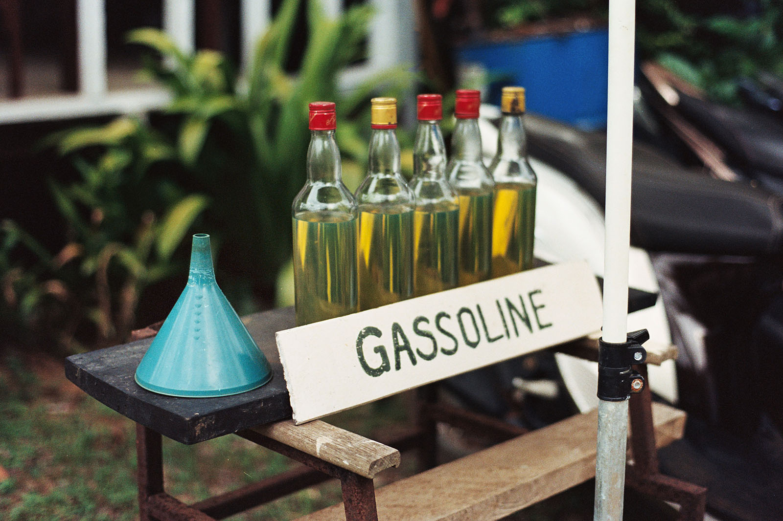 Gasoline for sale in Koh Mak | Thailand Travel Photos