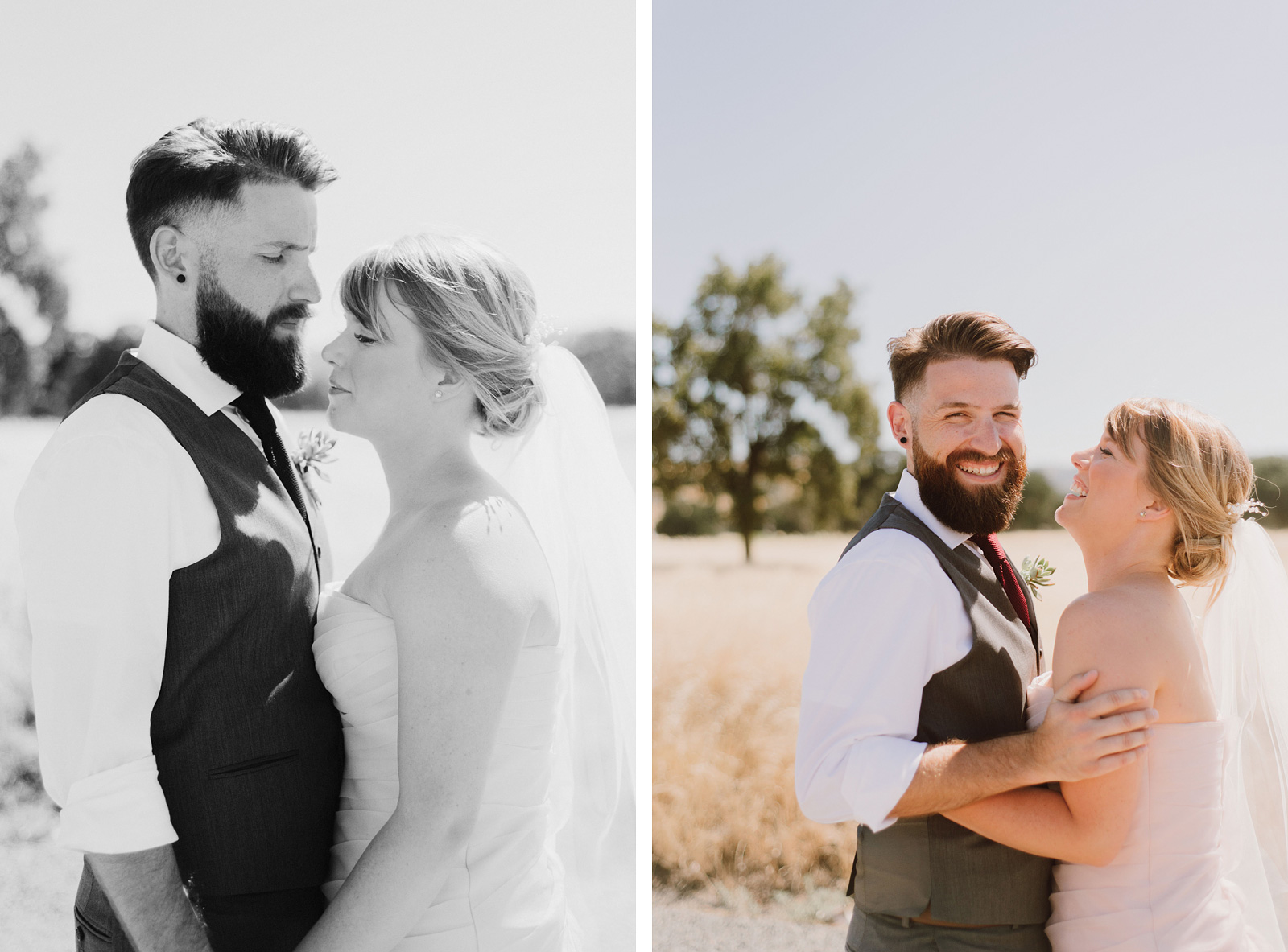 Portraits of Bride and Groom in Upper Bidwell Park | Backyard Chico California Wedding