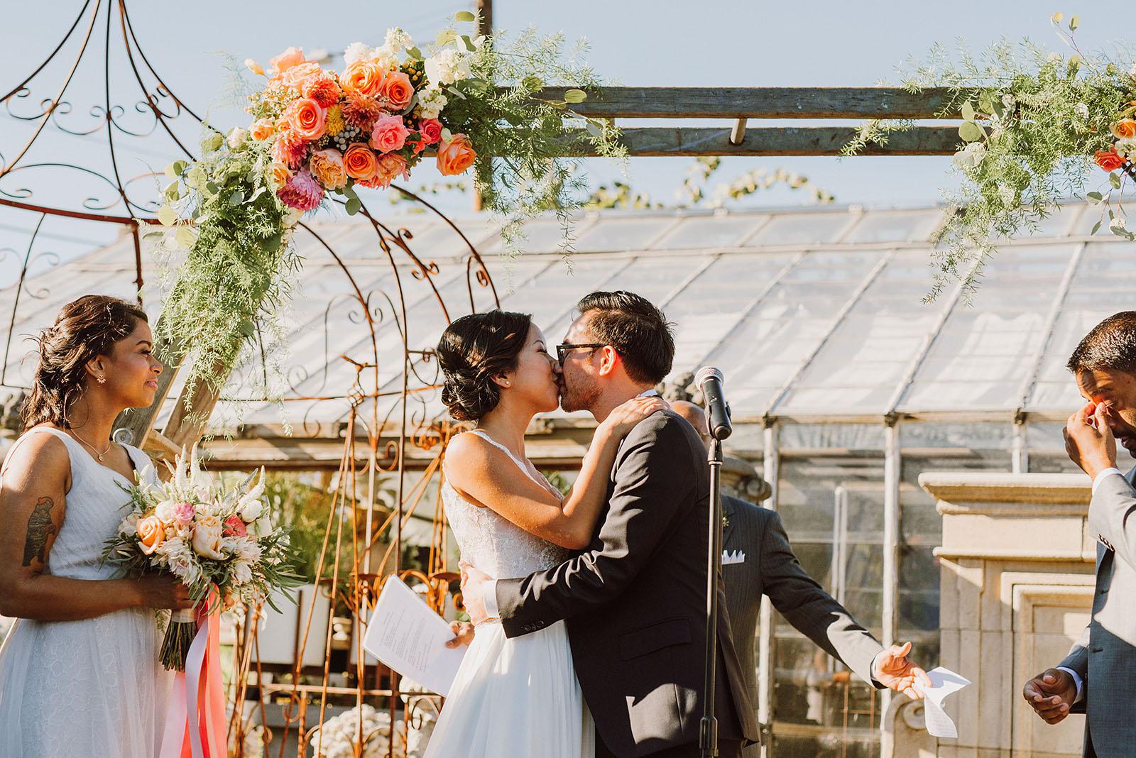 Ceremony in the Versailles Garden | Portland Castaway Wedding
