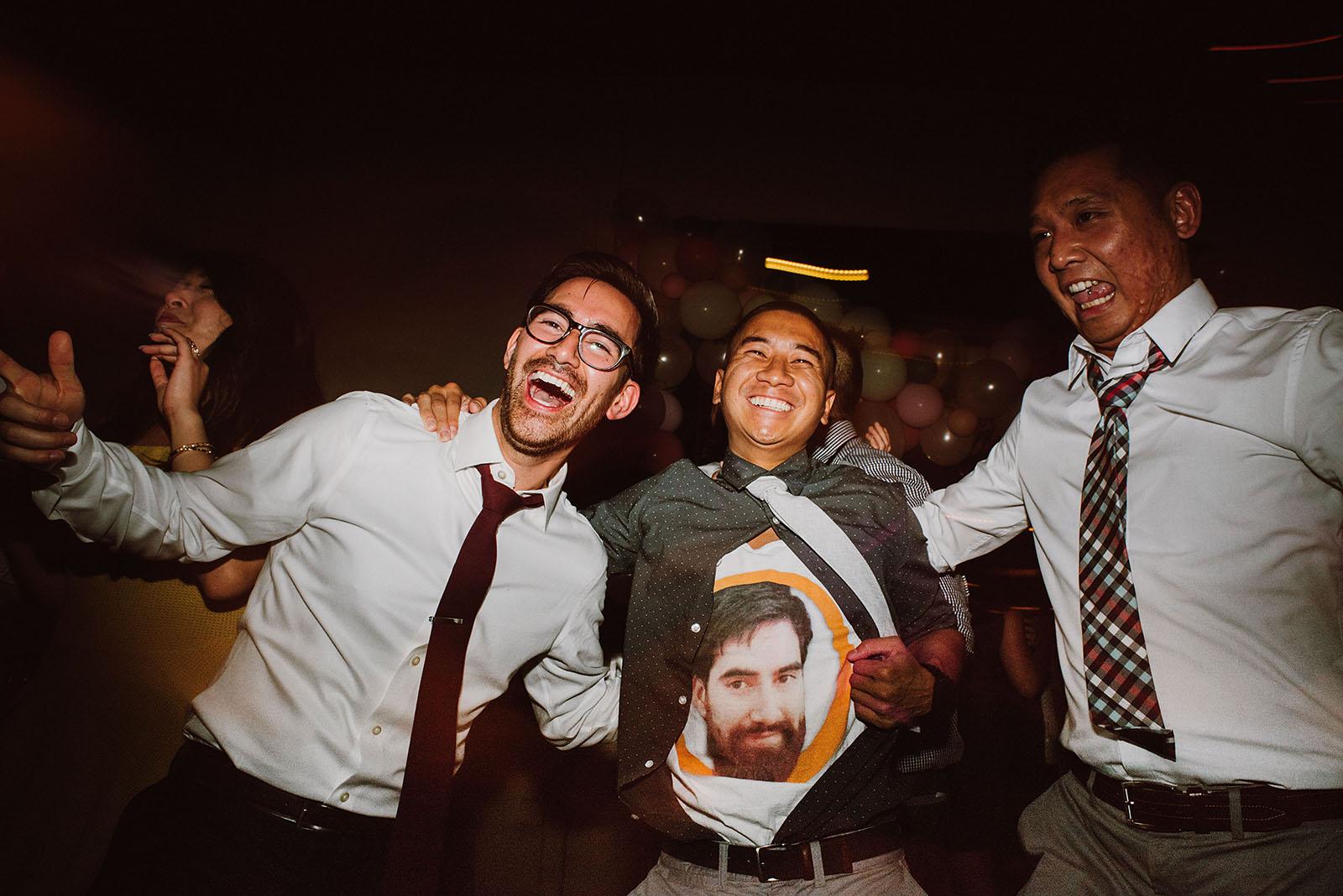Groom and guests on the dance floor | Portland Castaway Wedding