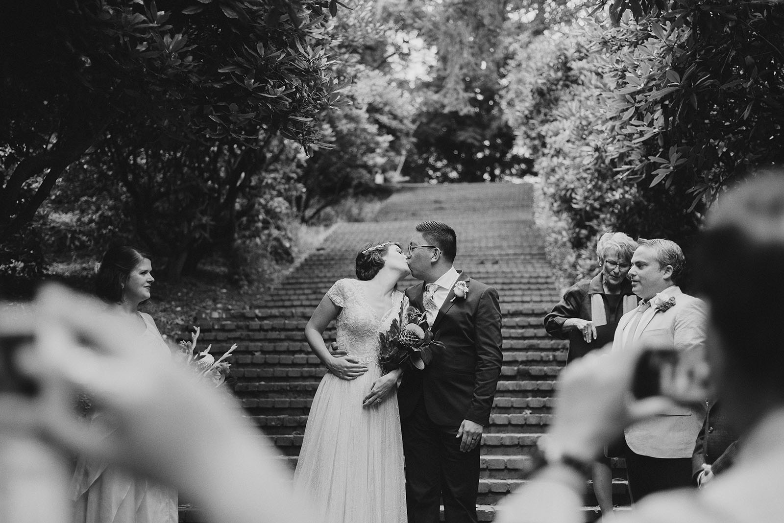 Ceremony in Laurelhurst Park | Downtown Portland Elopement
