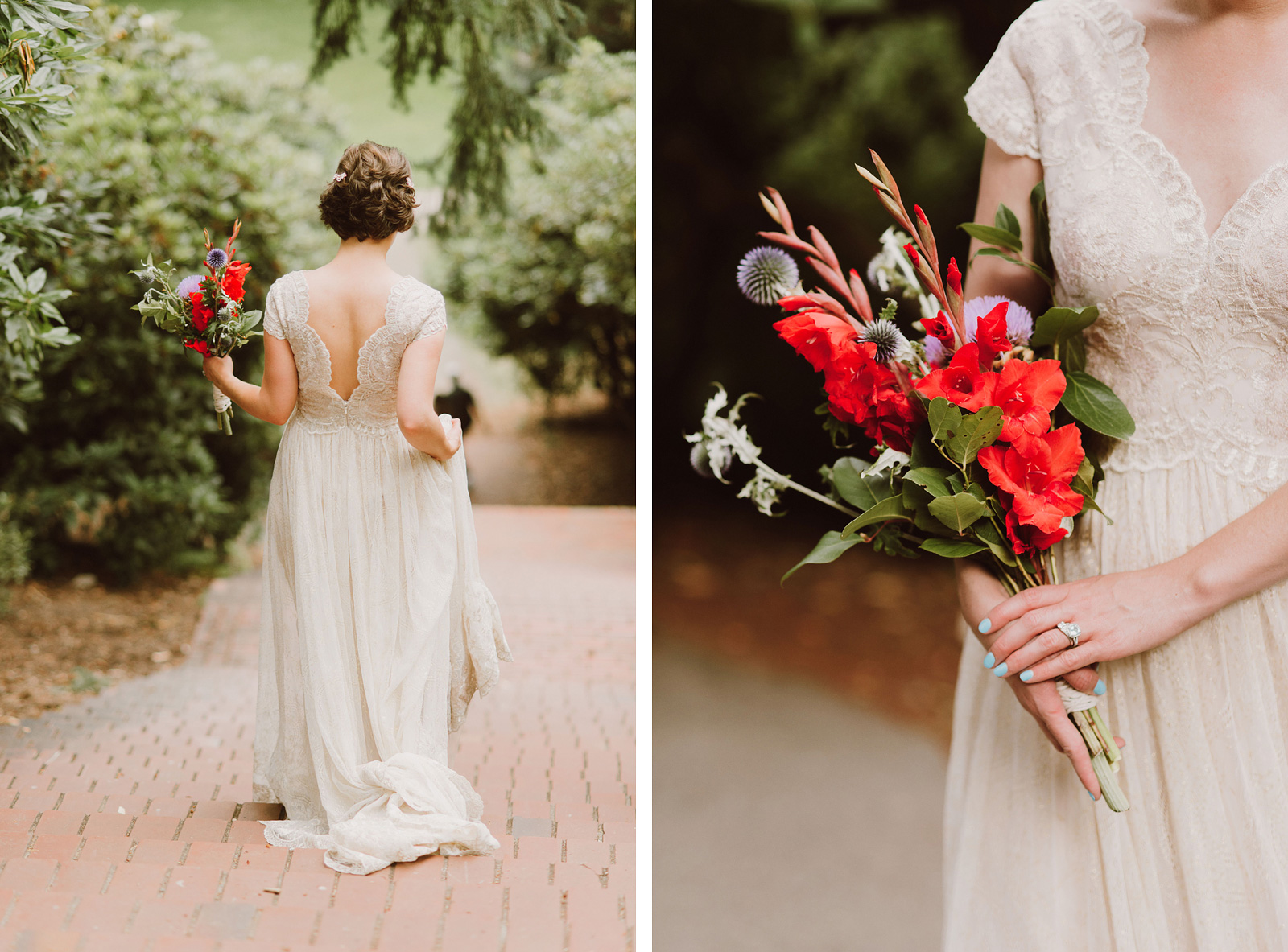 Bridal portraits in Laurelhurst Park | Downtown Portland Elopement