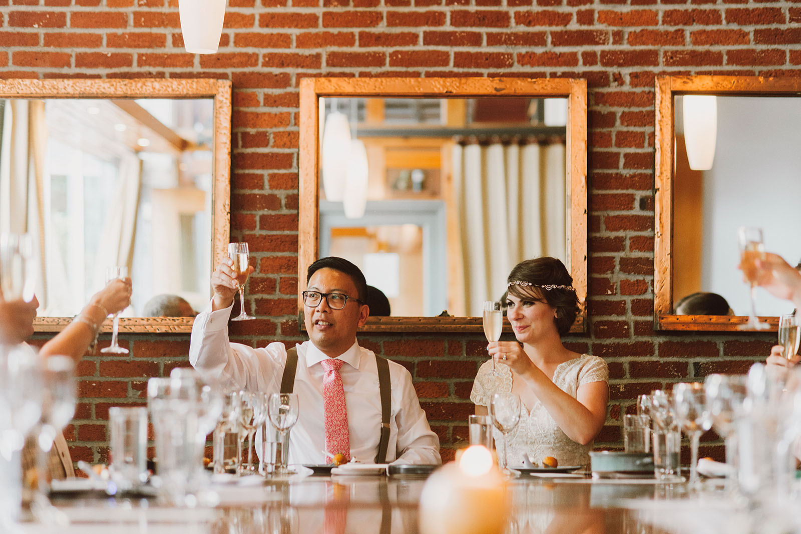 Toasts and speeches at Park Kitchen | Downtown Portland Elopement