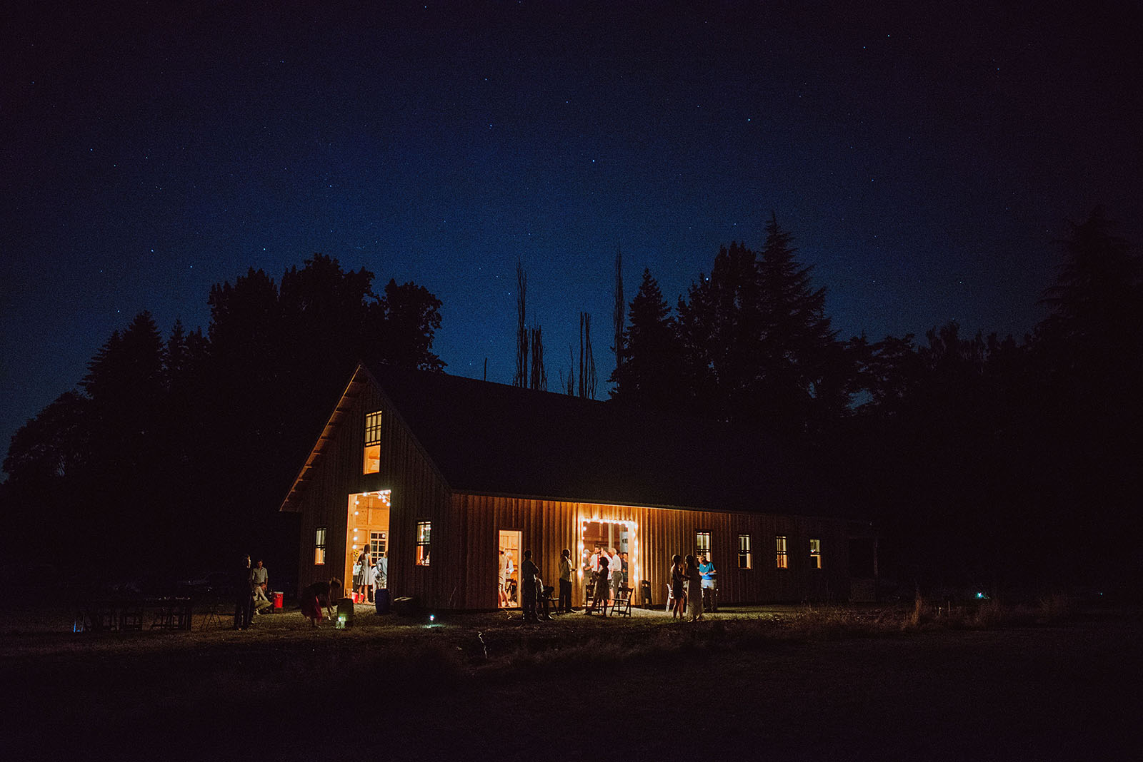 Reception barn at the Croft Farm | Sauvie Island Wedding