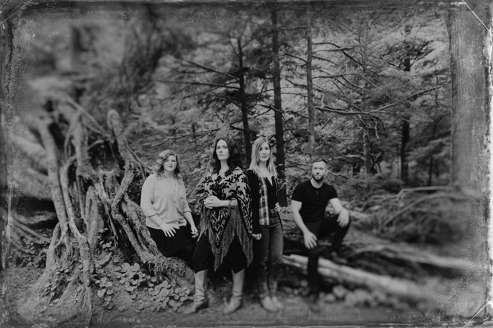 Portrait of folk band Lenore in Oswald West State Park | Portland Band Photographer