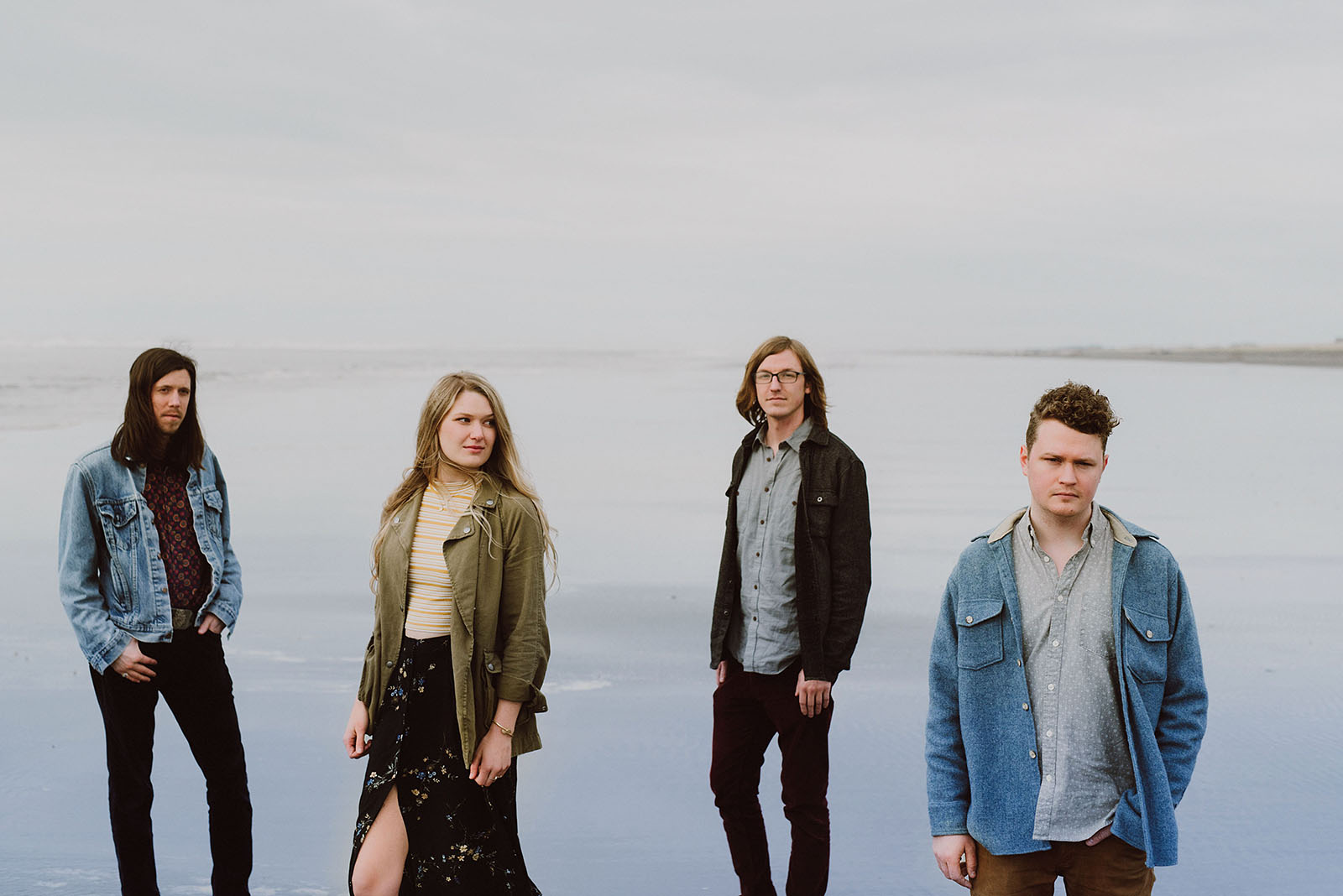 Beach portrait of indie rock artists Those Willows - Portland Band Photographer