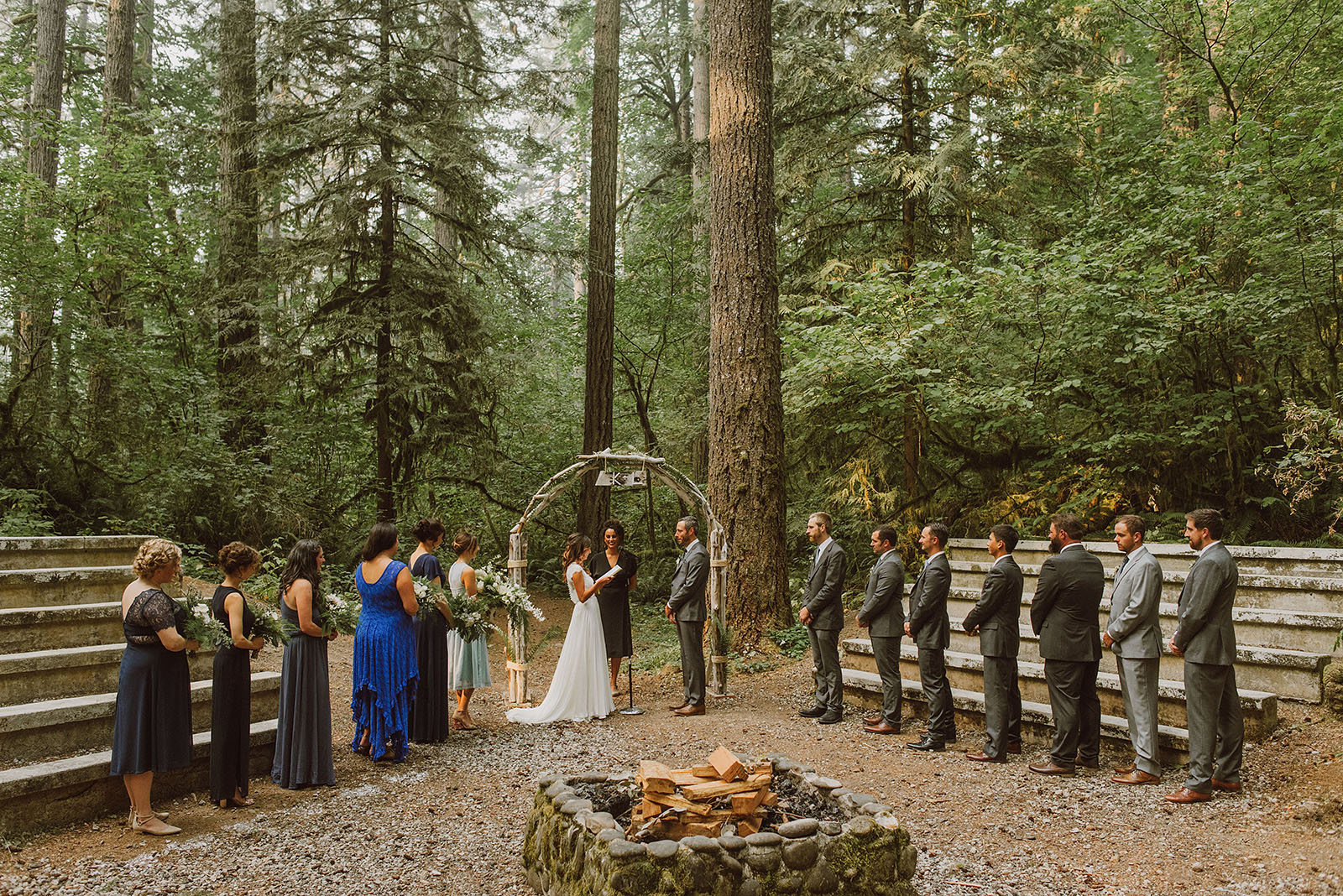 Camp Namanu wedding ceremony