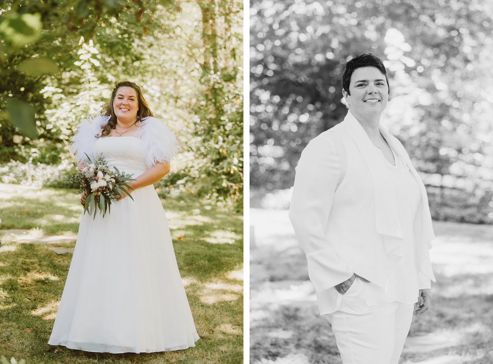 portraits of brides at Silver Falls State Park - Portland Wedding photography