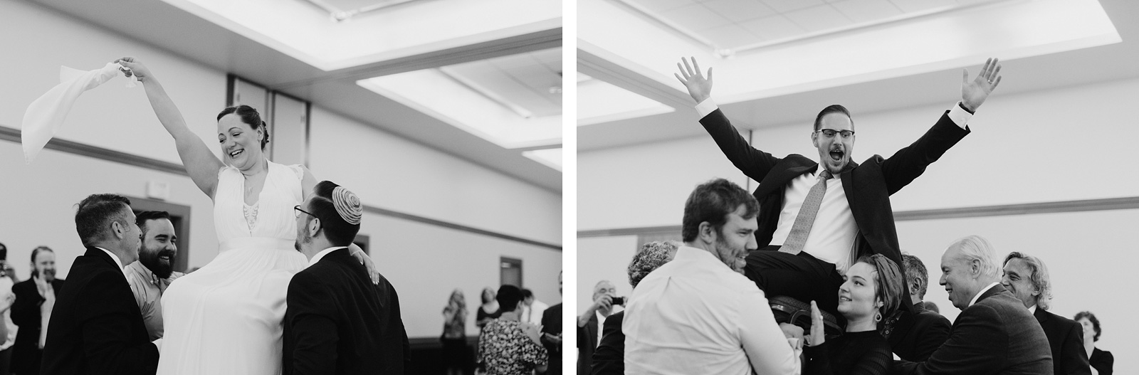 bride and groom dancing in the hora - Portland Wedding photography
