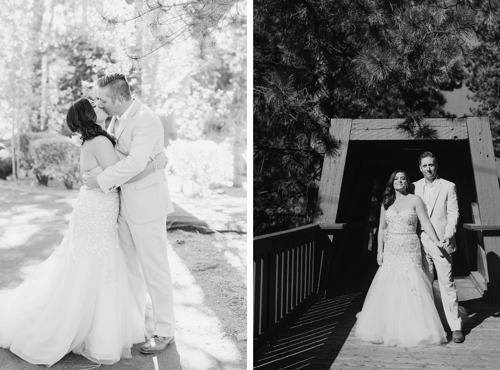 Bride and Groom posing before their Incline Village Wedding at Hyatt Regency in North Lake Tahoe