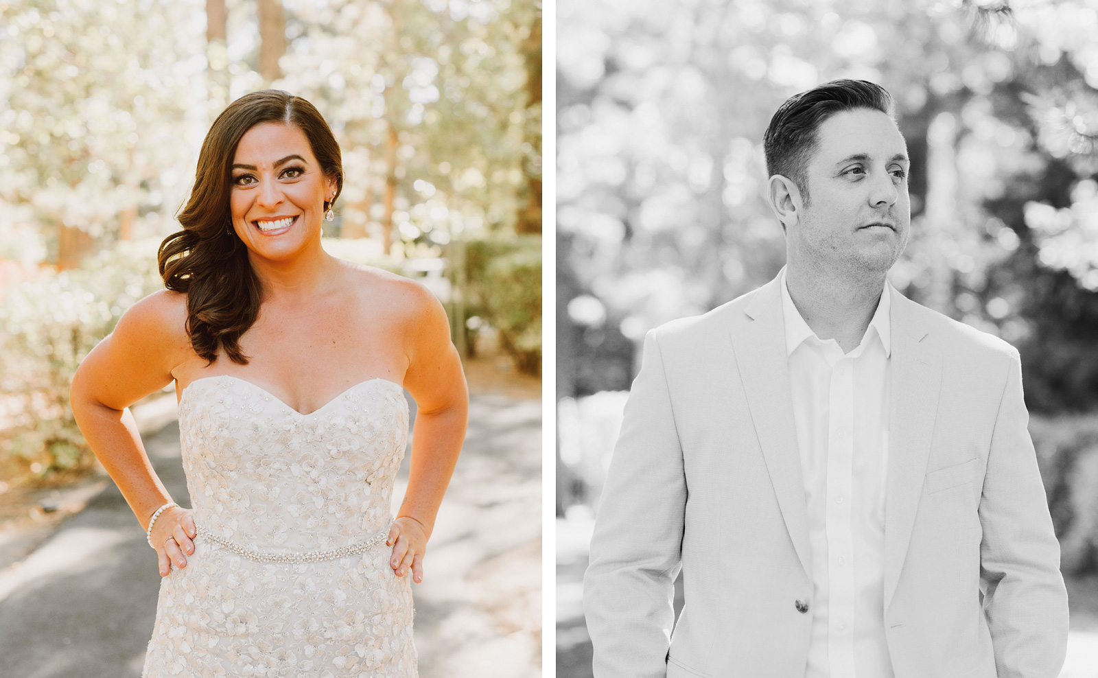 Portraits of Bride and Groom at an Incline Village Wedding in North Lake Tahoe