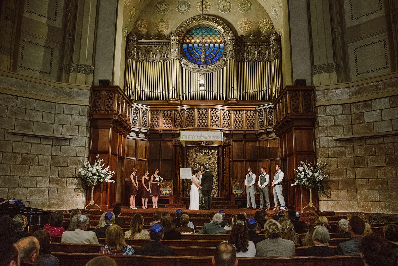 Congregation Beth Israel wedding ceremony