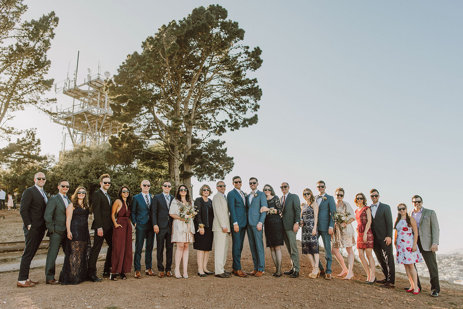 Family portraits on top of Bernal Hill - Foreign Cinema Wedding