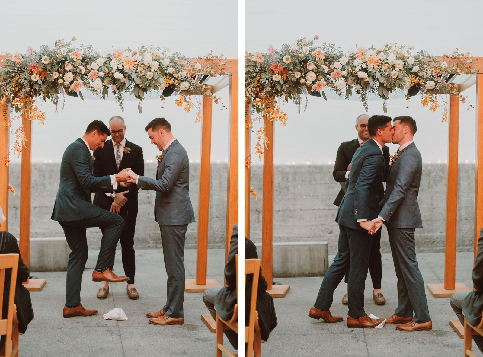 Same sex wedding ceremony in San Francisco, CA