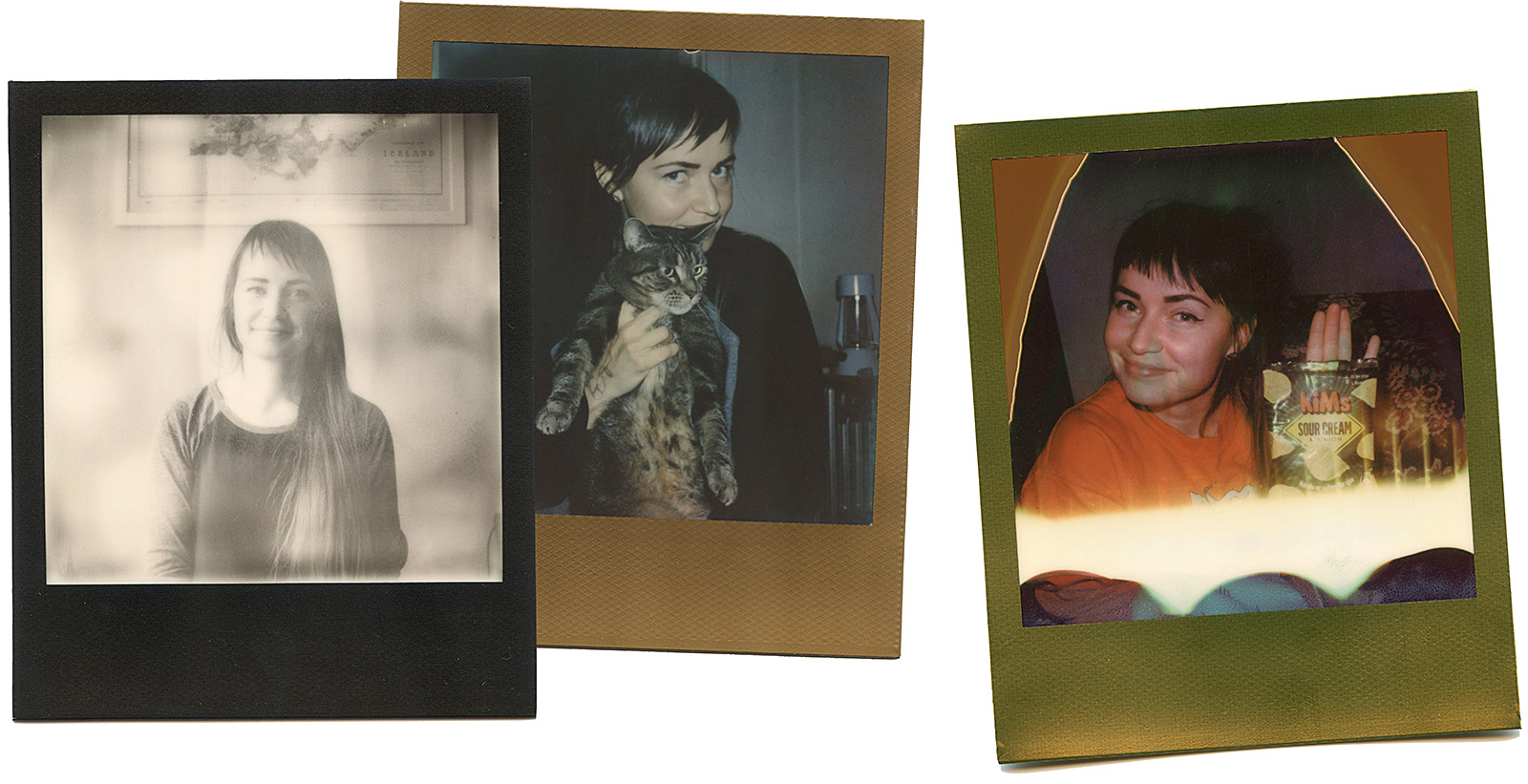 Polaroid photographs of Portland wedding photographer Kim Smith-Miller