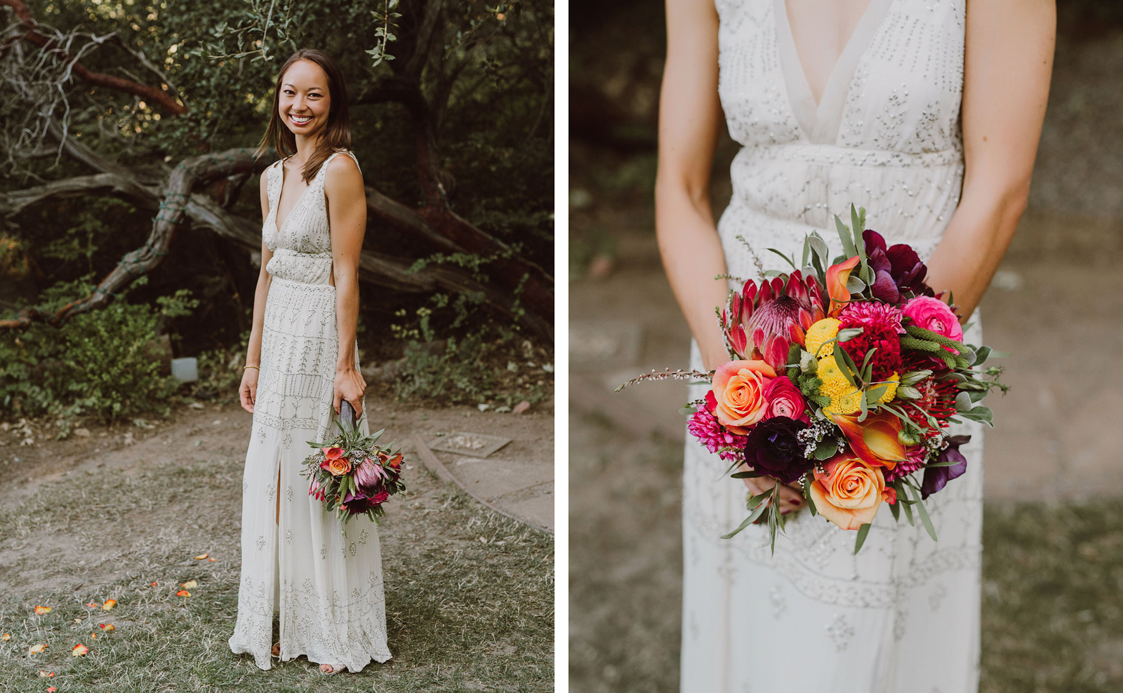 Bridal portraits at a Sacred Mountain Retreat Wedding
