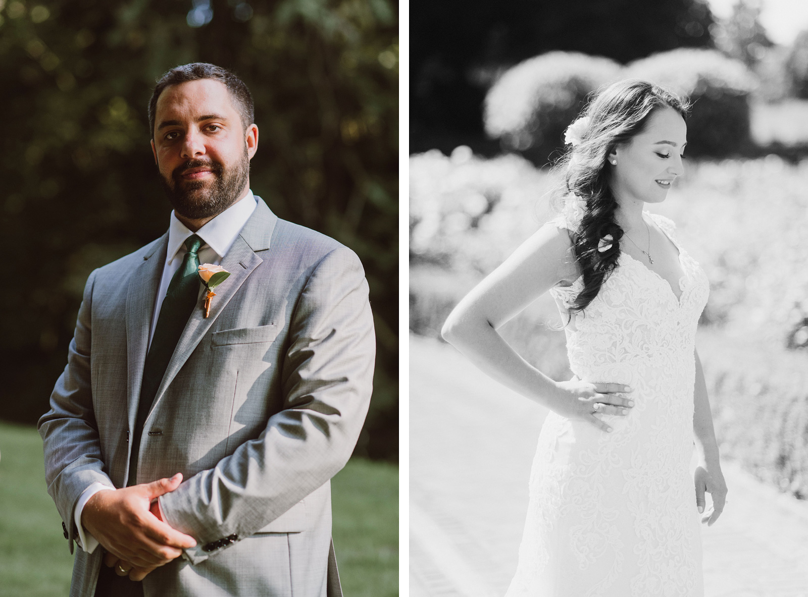 Portraits of Bride and Groom in Peninsula Park