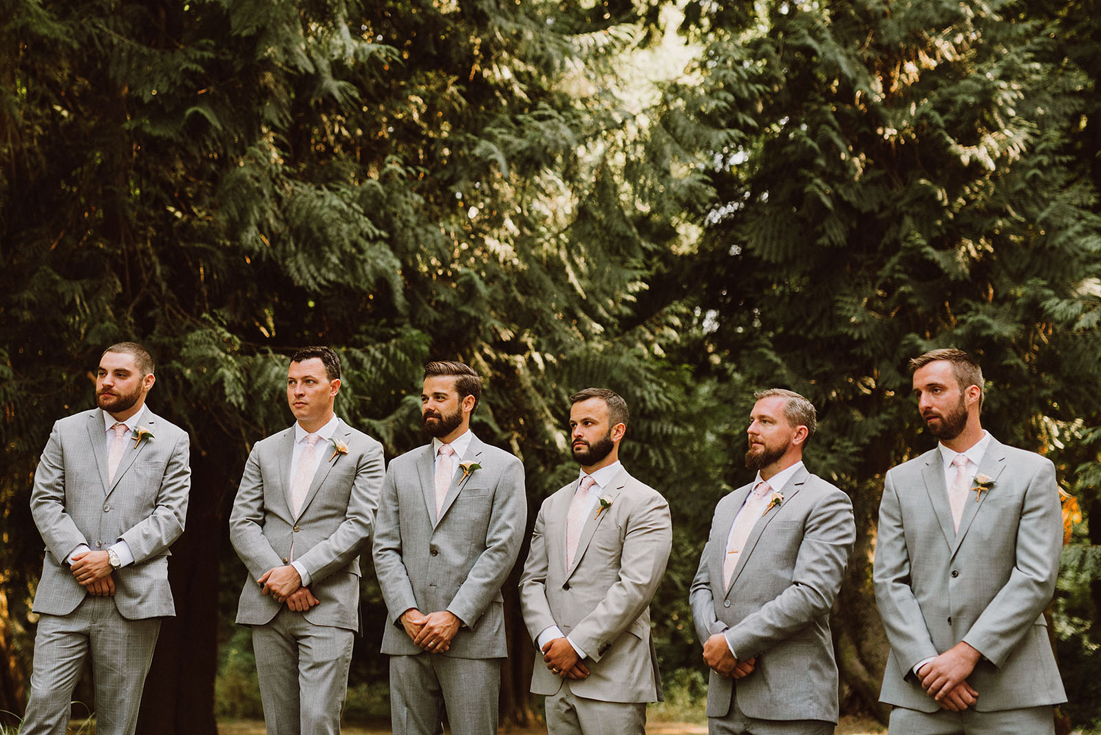 Groomsmen at a Cedarville Lodge Wedding ceremony