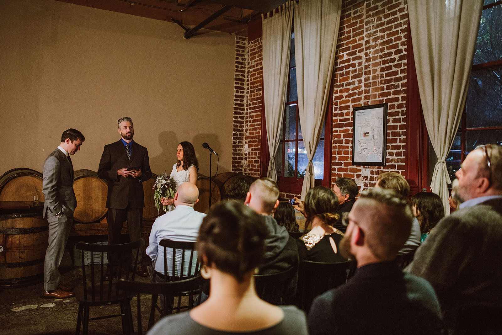 Opening ceremony at an Intimate Restaurant Wedding in Portland, OR
