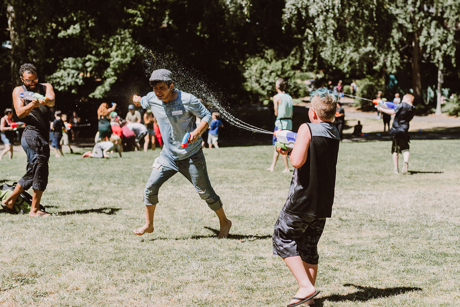 Public Water Gun Fight in Laurelhurst Park