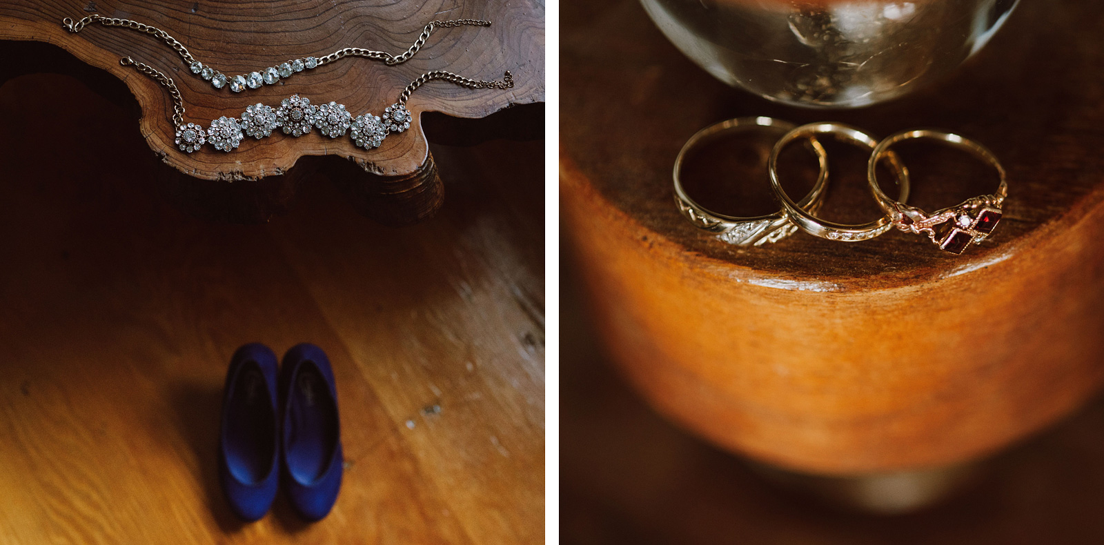 Bride's shoes and jewelry at The Colony St Johns Wedding