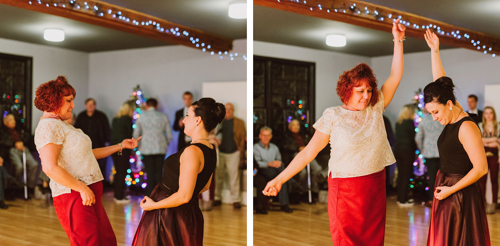 Bride rocking out with her mother during their first dance at The Colony St Johns Wedding