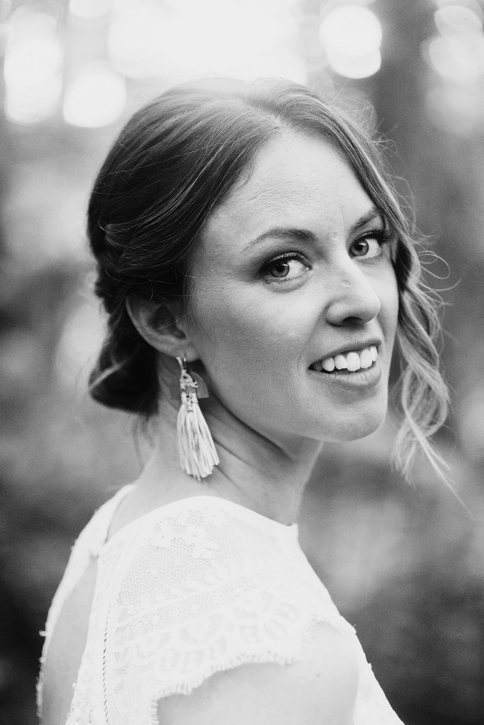 portrait of bride at Pendarvis Farm - portland wedding photography