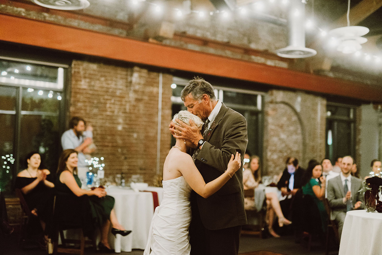 touching Father-Daughter dance at the Ecotrust - portland wedding photography